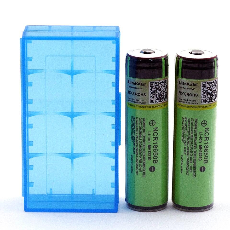Liitokala 2 шт. оригинальный 18650 3.7 В 3400 мАч NCR18650B Lthium Батарея защиты доска подходит для Panasonic Батарея + 18650 коробка