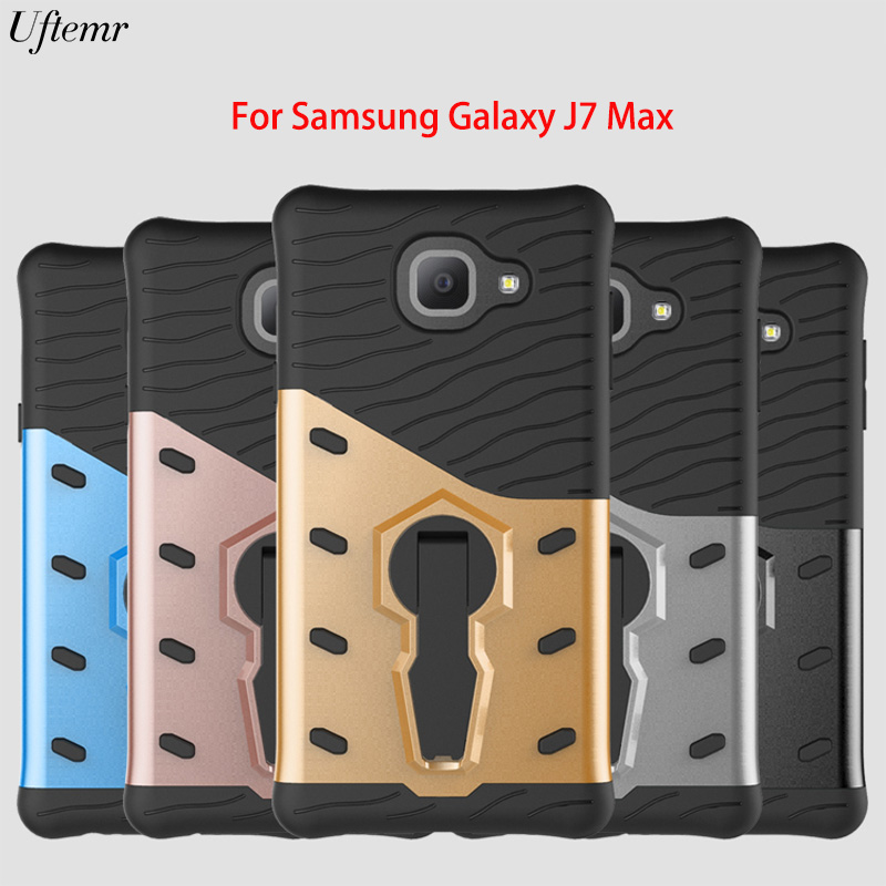 Uftemr Case for Samsung J7 Max Cover Shockproof Armor Luxury Silicon PC Hard back cover case for Samsung Galaxy J7 Max Coque
