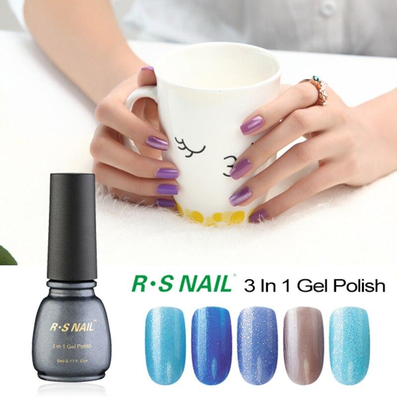 Rs Nail: RS NAIL Uv Gel Nail Polish Set 3 In 1 Nail Glue