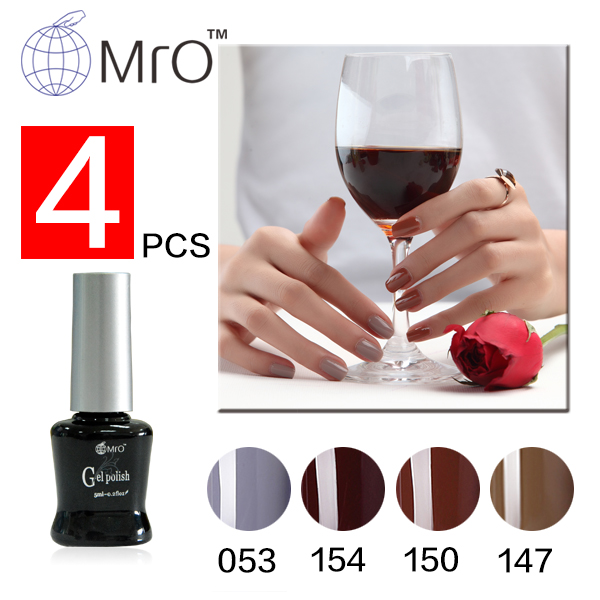 Mro 4 Pieces Lot Long Lasting 3 Step Uv Gel Nail Polish Set For 100 Colors Can Choose Varnishes Nails Professional In From Beauty