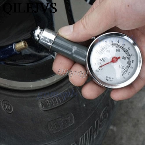 1PC Metal Tire Gauge Car Auto Dial Tyre Meter Precision Pressure Measure Tool Drop shipping