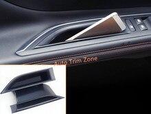 2 UNIDS Interior Frontal De Plástico Negro Caja de Almacenamiento de Puerta Para Peugeot 3008 GT 2017
