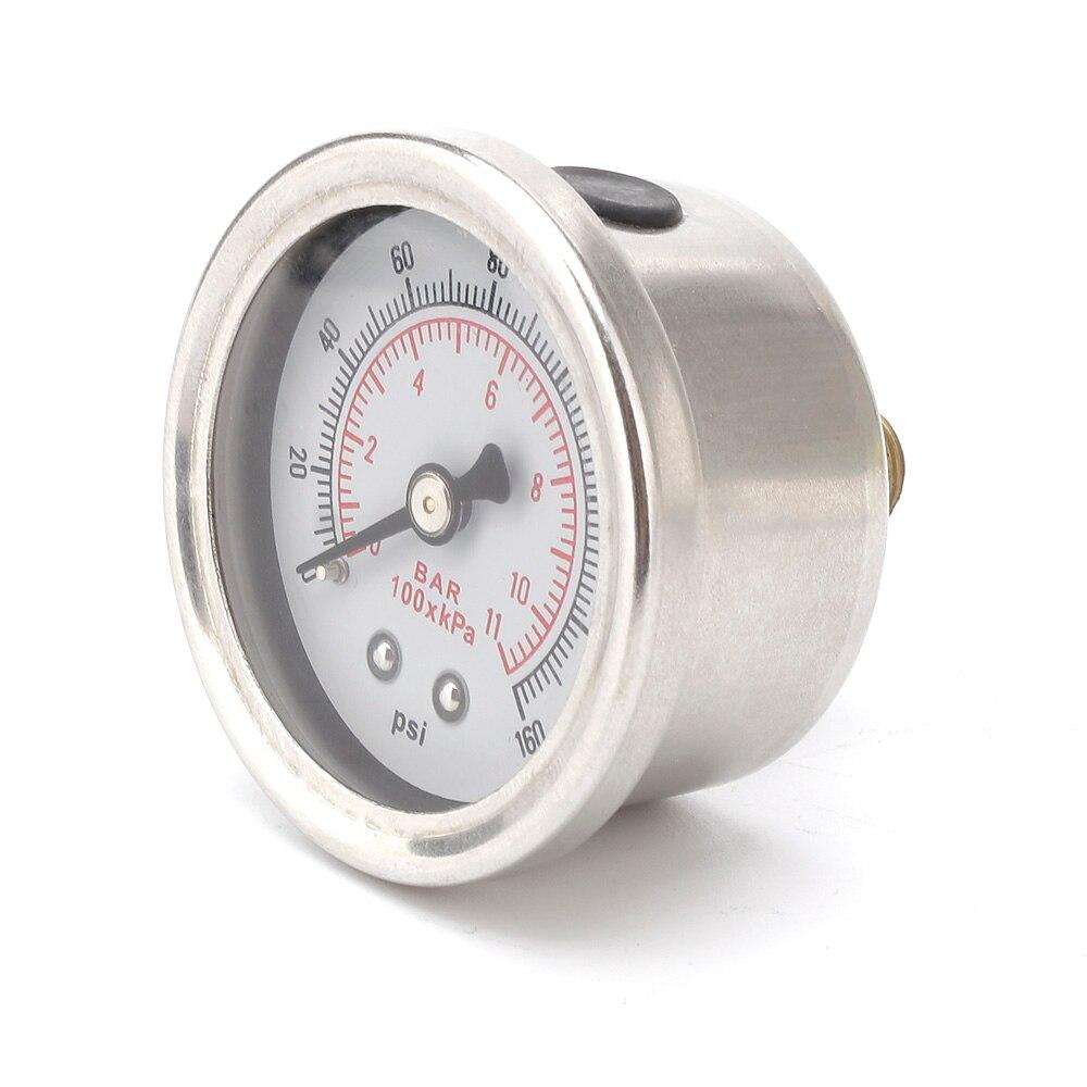 CNSPEED датчик давления топлива жидкость 0-160 psi Масляный Пресс датчик топлива белое лицо Универсальный 1/8 NPT YC100917