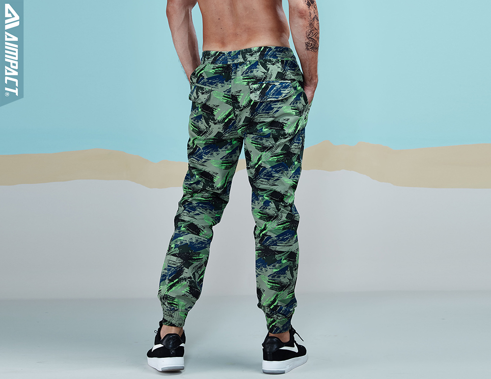 Aimpact 2018 Spring Men Casual Fashion Camo Jogger Pant Man Cotton Fitted Trace Twill Pant Male Straight Tapered Trousers AM5011 (12)