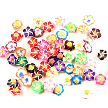 LF 100cs Clay Mixed  Flower 15mm Decoration Crafts Flatback Cabochon Embellishments For Scrapbooking Kawaii Cute Diy Accessories