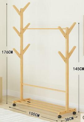 Пальто бамбук стойки Спальня стоячая мобильный одежда дерево Гостиная hallstand стеллаж для хранения