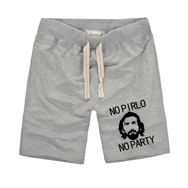 No Pirlo No Party Impreso pantalones cortos creativos 2019 Moda de - Ropa de hombre - foto 2