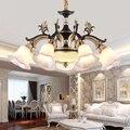 Европейская ретро светодиодная люстра американская кантри светильники для гостиной хрустальные подвесные светильники для спальни столов...