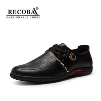 Mens Casual Shoes Luxury Brand Genuine Leather Solid Lace Up Flats British Style Oxfords Mocassin Shoes