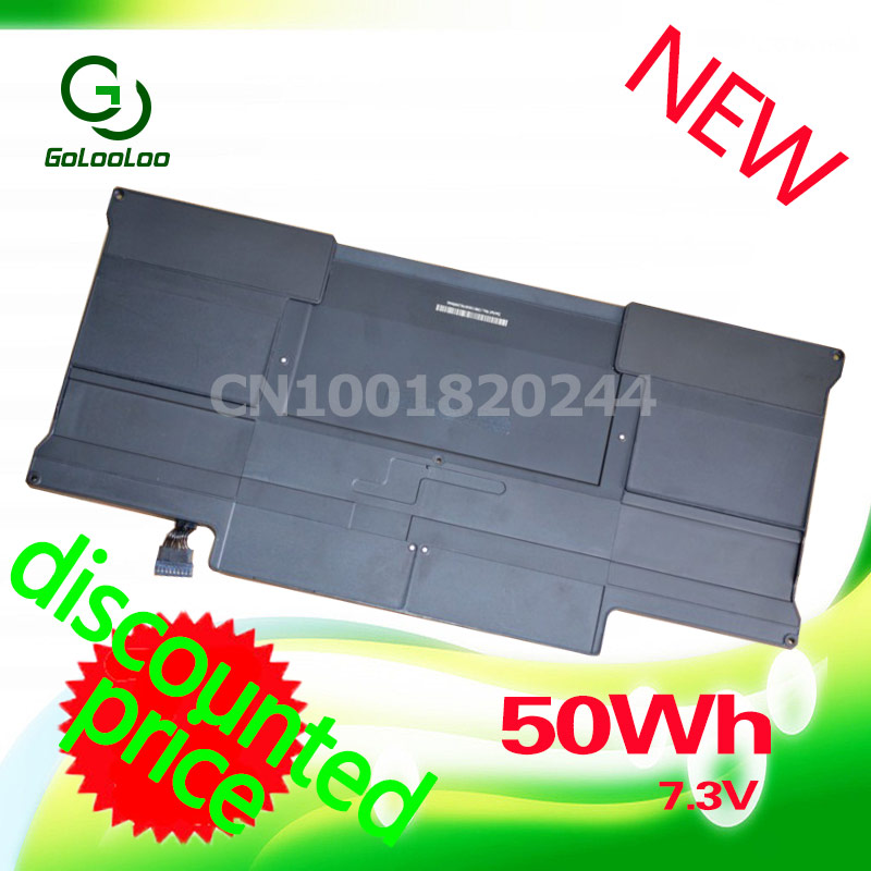 Golooloo 7.3V 6700mAh Laptop Battery For Apple MacBook Air 13 A1466 A1369 MC504 A1405 MC503 50Wh hsw rechargeable battery for apple for macbook air core i5 1 6 13 a1369 mid 2011 a1405 a1466 2012