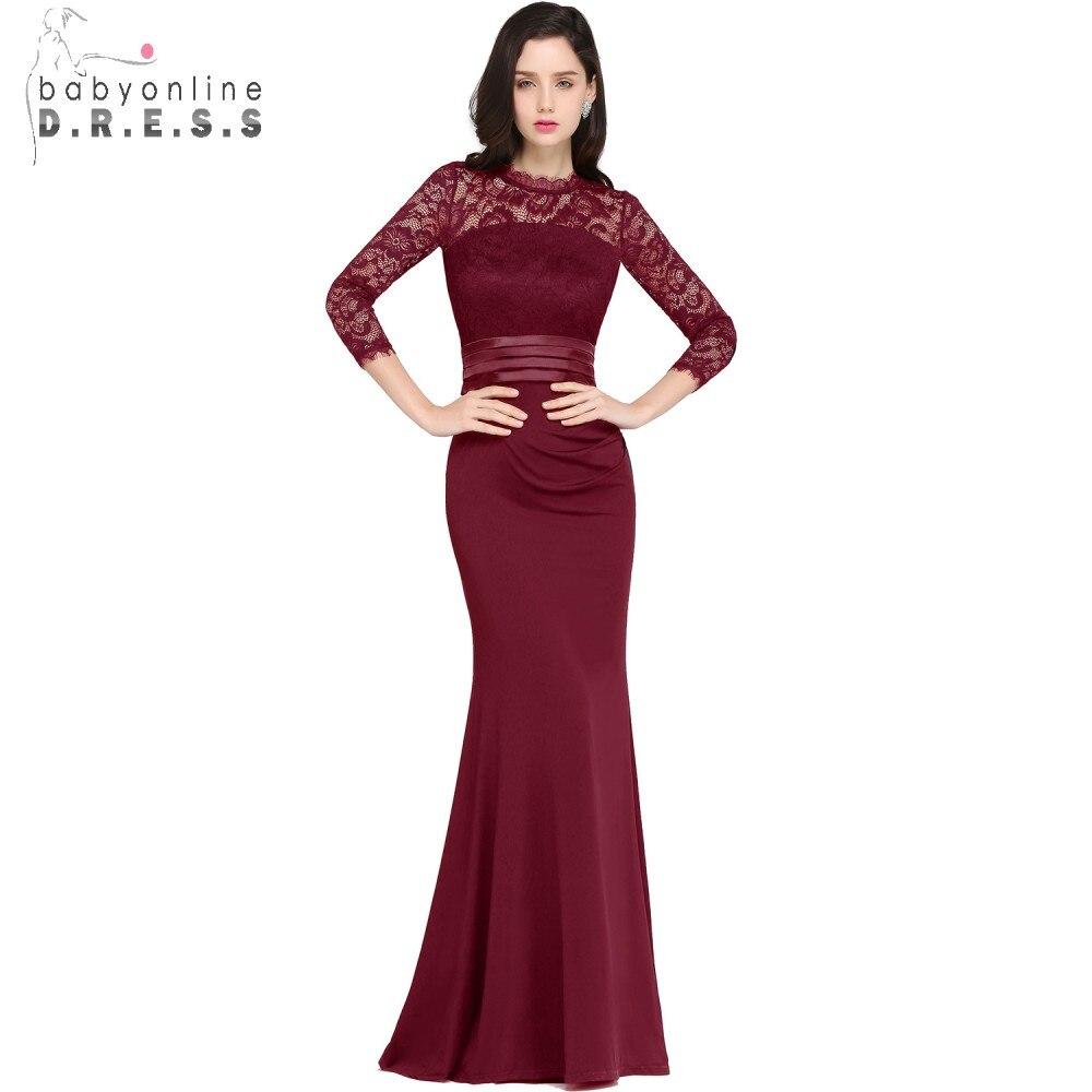 साटन फीता लंबे शाम के - विशेष अवसरों के लिए ड्रेस