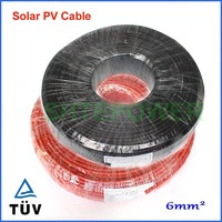 Hot selling 100 meters/roll 6mm2 solar cable single core PV copper cable black and red optional for MC4/MC3