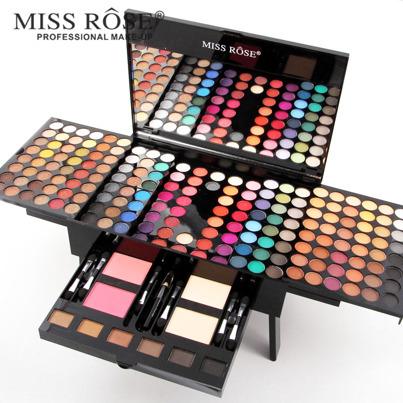 где купить Miss Rose piano makeup set matte eyeshadow palette nude shimmer eye shadow pigment with brush mirror in box дешево