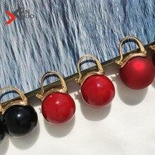 Vintage Big Round Imitation Pearl Dangle Earrings Simple Red Women Geometric Dangle Earrings For Wedding Jewelry Brincos цена и фото