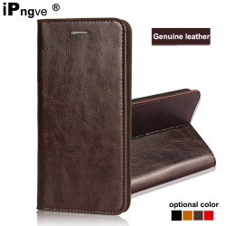 ipngve Handmade Wallet Flip Cover Case For iPhone 6 6S Plus Case iPhone 6 Genuine Leather Phone Bag Fundas For iphone 6S Plus 1