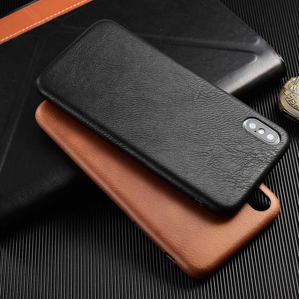 حقيبة هاتف من الجلد المصقول آيفون 6 6S Plus 7 8 Plus صدمات الوفير الهاتف حقيبة لهاتف أي فون X XS Max XR XS Prime Coque