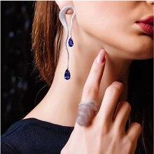 RAKOL New Favorite Elegant Water Drop Cubic Zirconia Luxury Women Engagement Party Bridal Wedding Earrings High Jewelry RE523146