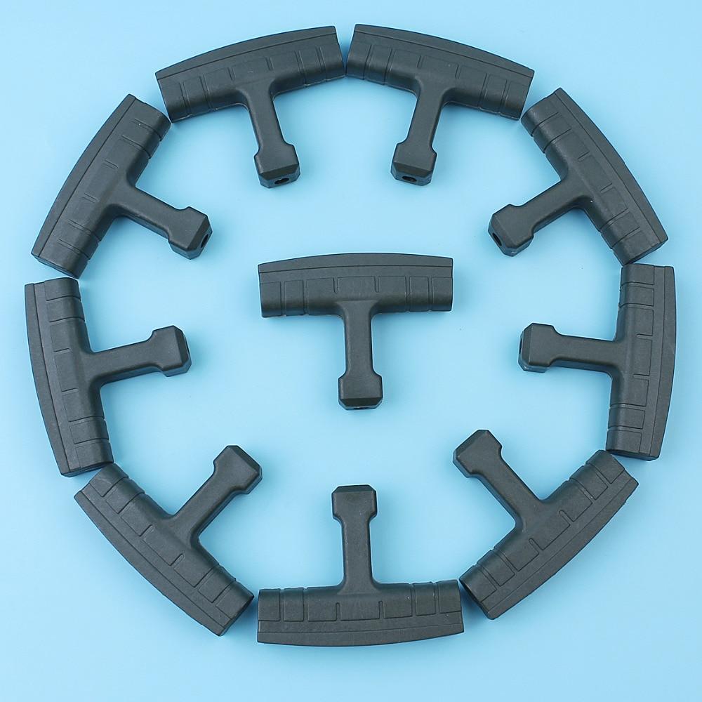 10Pcs/lot Recoil Starter Handle Grip Kit For Husqvarna 45 50 51 55 Rancher 394 395 357XP 359 362 365 371 372 Chainsaw 503543901