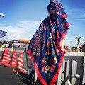 Женщины Зима Теплая Шарфы Шали Палантины Шарф Воротник Тик Бандана Магия Тибет Хлопчатобумажная Ткань Одеяло Шарф Пончо на Новый Год