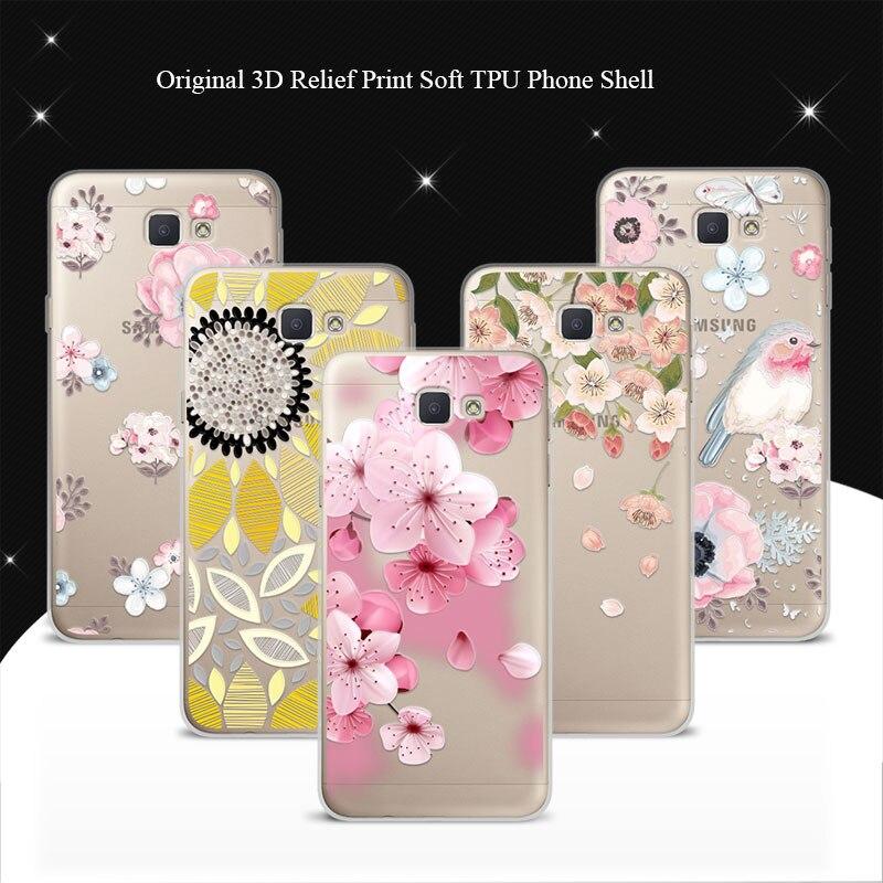 Galleria fotografica For Samsung J5 Prime Case Cover 3D Lace Relief Soft TPU Back Covers Coque For Samsung Galaxy J5 Prime G570F G570 SM-G570F Funda