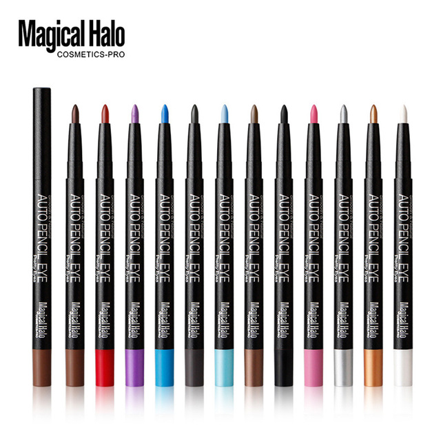 Different Color Eyeliner Pen Eye Shadow Pencil Ultra Waterproof Eyebrow Makeup Tools 12 Pcs/Set Eyeshadow Pencil WD179 T45