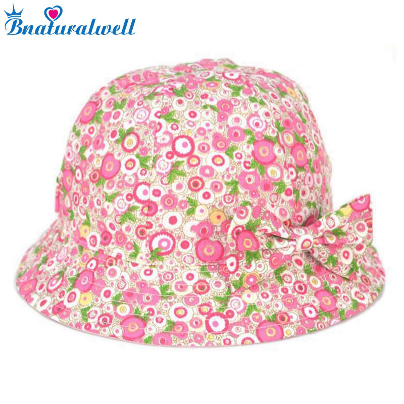 6beb6a45e04c1 Bnaturalwell Kids Cotton Sunhat Girls Summer hats Children s colourful bucket  hat Wide brim daycare Toddler Beach Hat 1pc H019
