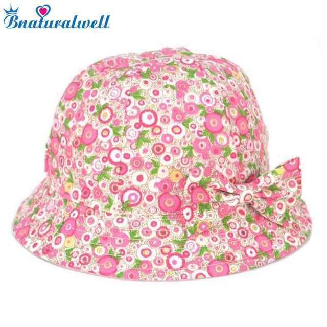 56f07fb533c Bnaturalwell Kids Cotton Sunhat Girls Summer hats Children s colourful bucket  hat Wide brim daycare Toddler Beach Hat 1pc H019