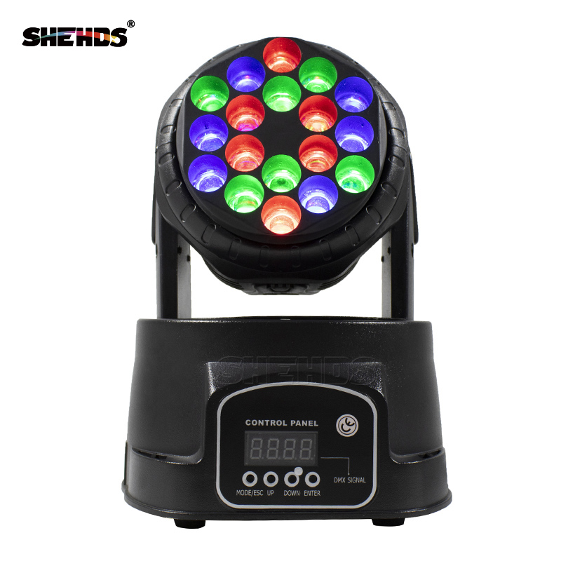 2pcs/lot LED Beam 18x3W RGB Moving Head SHEHDS DMX512 Stage Lighting For Event DJ Disco Party Nightclub Fast Shipping divage pastel lip liner карандаш для губ pastel 2204