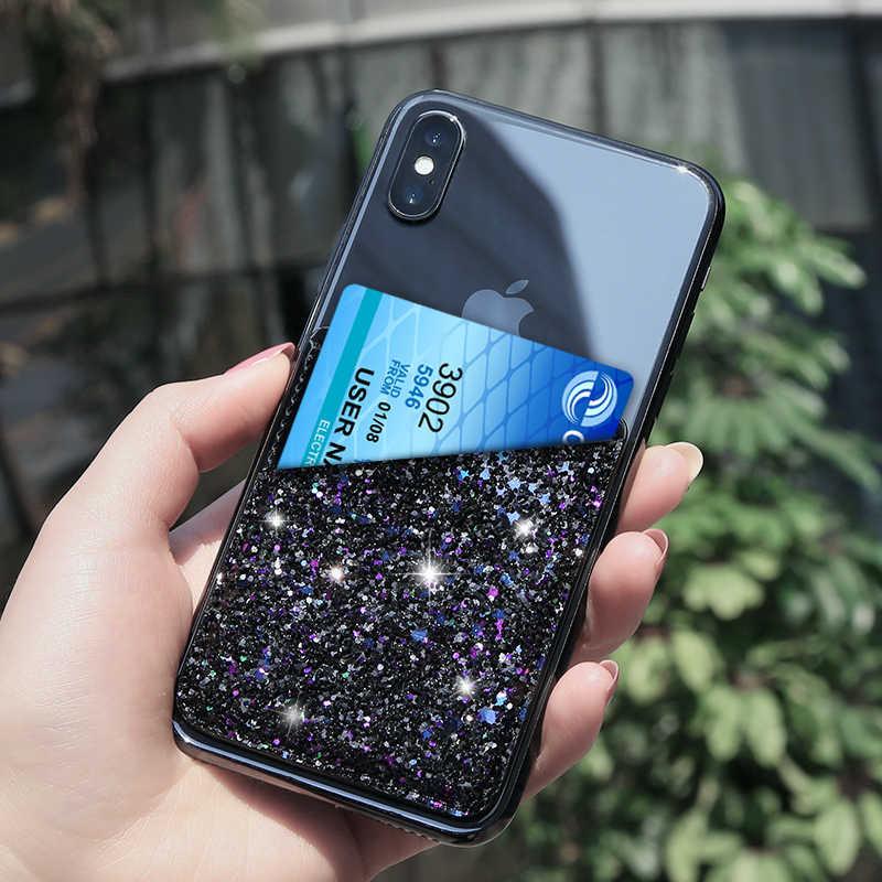 FLOVEME красочные клей Стикеры держатель для карт задняя крышка телефона чехол для samsung S9 S8 S9 плюс для iPhone X 8 7 Plus Coque