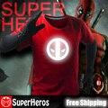 Deadpool NEW 2017 fashion mens brand cotton novelty luminous tee t-shirts male short sleeve man casual clothing plus size XXXL