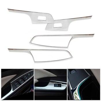 CITALL 4 Uds ABS cromo puerta Interior puerta ventana Panel interruptor de ajuste para Honda CRV CR-V 2012, 2013, 2014, 2015