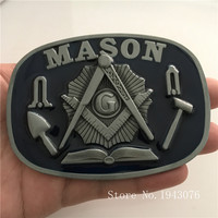 Ultra Low-cost Factory Direct High Quality Alloy Mason Belt Buckle With Pewter Fashion Man Jeans Accessories Fit 4cm Wideth Belt