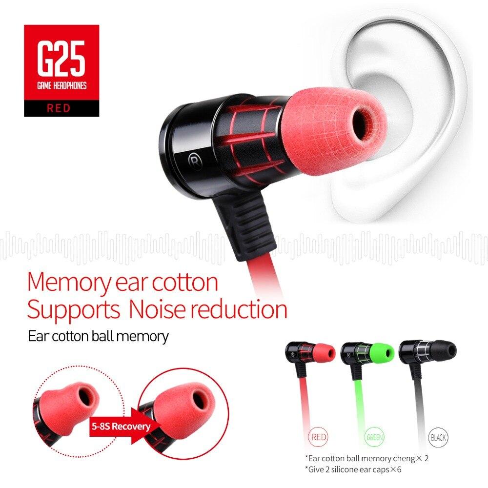 Plextone G25 Gaming Earphones-Red