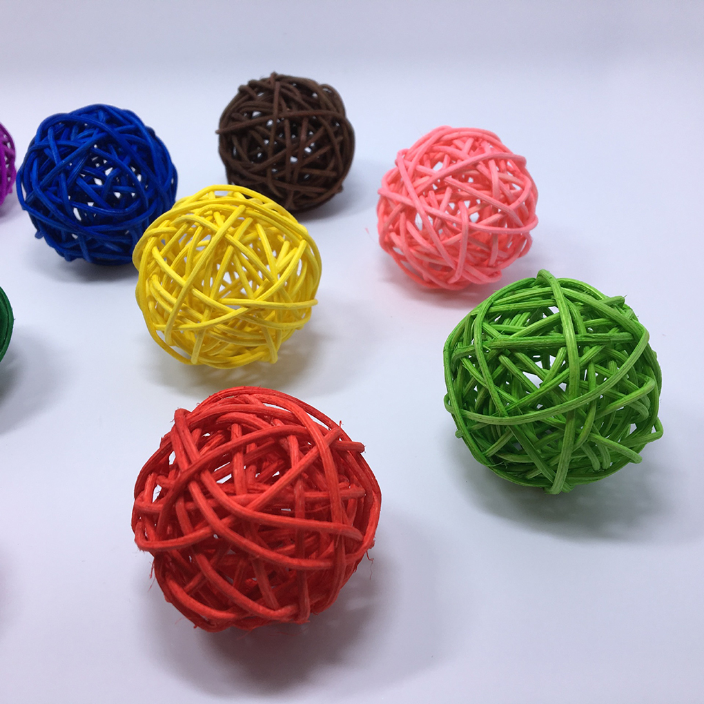 Festive & Party Supplies Novel 5pcs/set Colorful Cute Rattan Wicker Cane Balls Home Garden Wedding Decor Birthday Party Supplies Diy Ornaments Ture 100% Guarantee Party Diy Decorations