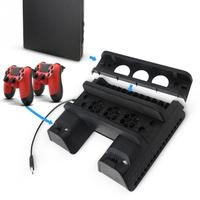 PS4 PS 4 Vertical Stand Cooling Fan,Game Holder Dual Charging Dock Station Disc CD Disk Storage for Playstation 4 #0925