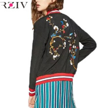 RZIV Women jacket 2016 casual jaqueta feminina jacket embroidered flowers