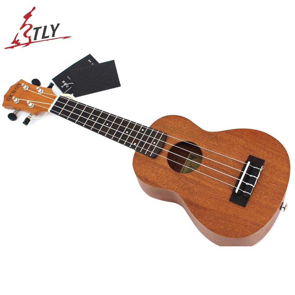 21 pouces Hawaii Mini guitare Sapele Ukelele ukulélé palissandre touche débutants Uke