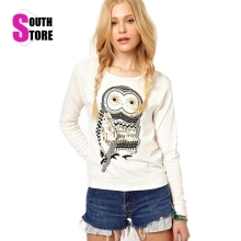Southstore 2016 New Fashion Animal Owl Printed Diamonds Sweatshirt Cotton Tracksuits Casual Pullover Suit Women Hoddies