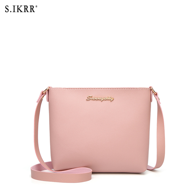S.IKRR Casual Small Leather Crossbody Bags For Women 2019 Design  PU Leather Handbags Tote Shoulder Bags Messenger  Women Bag