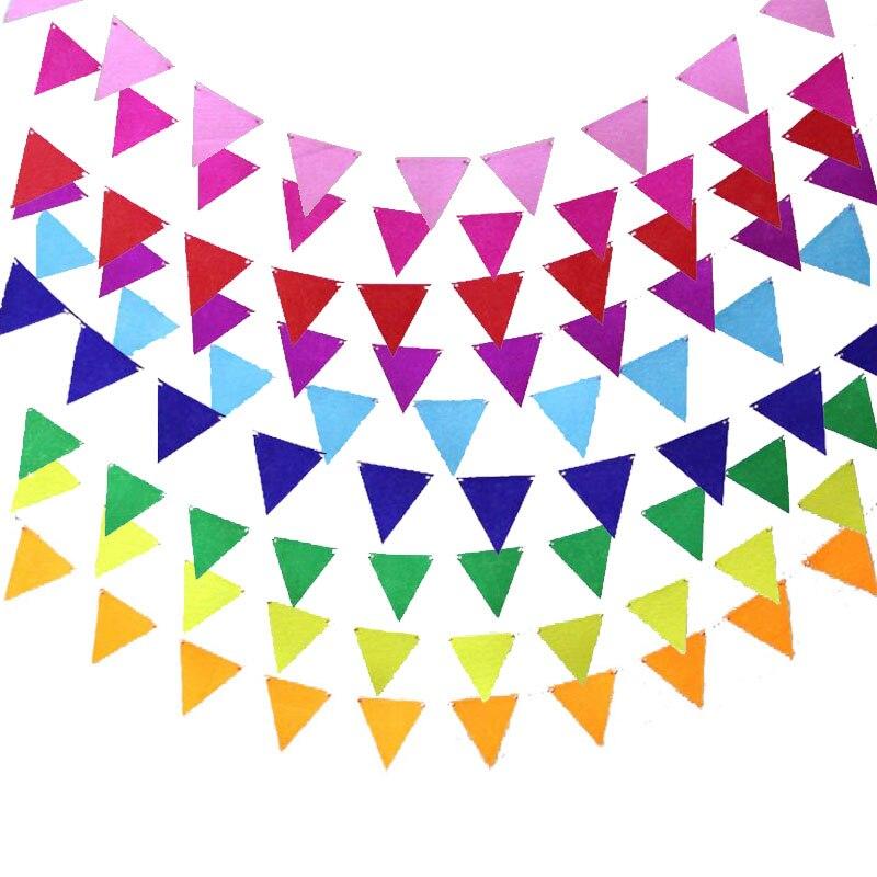 Разноцветные нетканые вымпелы, баннер для флажков на свадьбу/День Святого Валентина/Искусственная подвесная гирлянда, декоративные принад...
