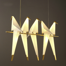 Papercranes Pendant Lamp Post Modern Creative Design 1/2/3/5/6 Head Bird Light Northern Europe Restaurant Bar Store Hotel Club