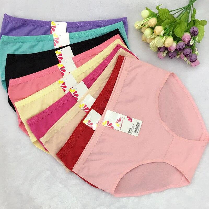 Aliexpresscom  Buy Cheap Wholesale 10Pcslot Cotton Underwears Women Panties Plus -8829