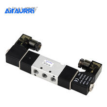 цены 4V120-06 Free Shipping High Quality 1/8'' DC 24V Double Postion 5 Way Air Solenoid Valve Dual Coils