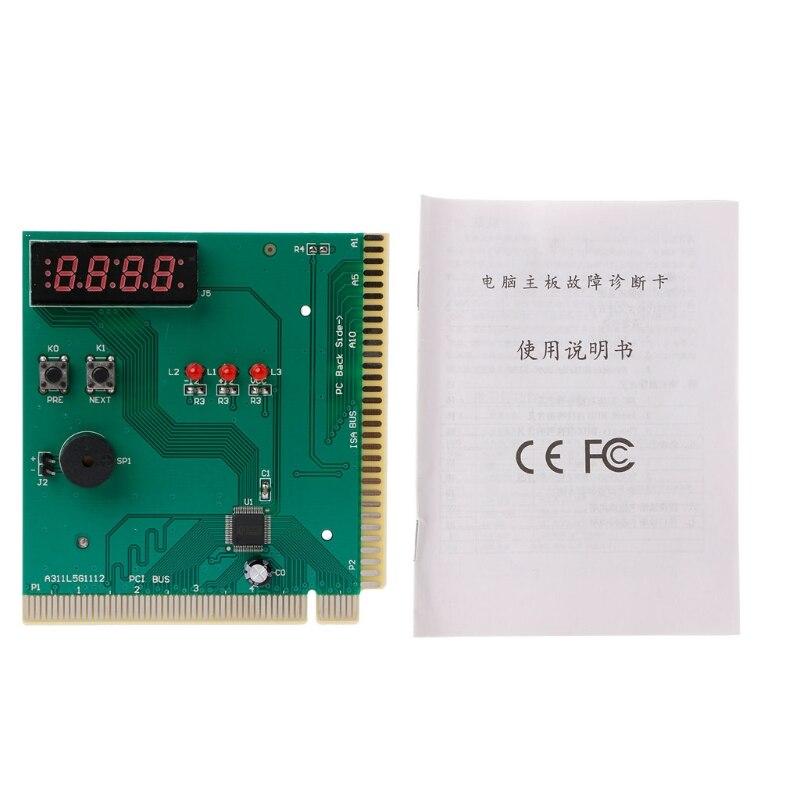 New PCI & ISA Motherboard Tester Diagnostics Display 4-Digit PC Computer Mother Board Debug Post Card Analyzer