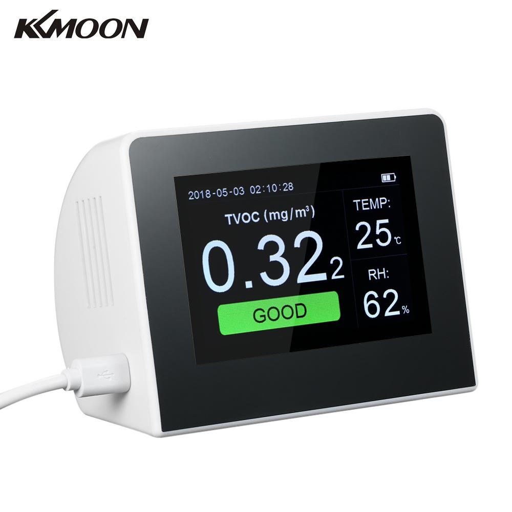 air quality monitor gas detector Indoor Outdoor Digital PM2 5 HCHO TVOC Tester CO2 Meter Monitor