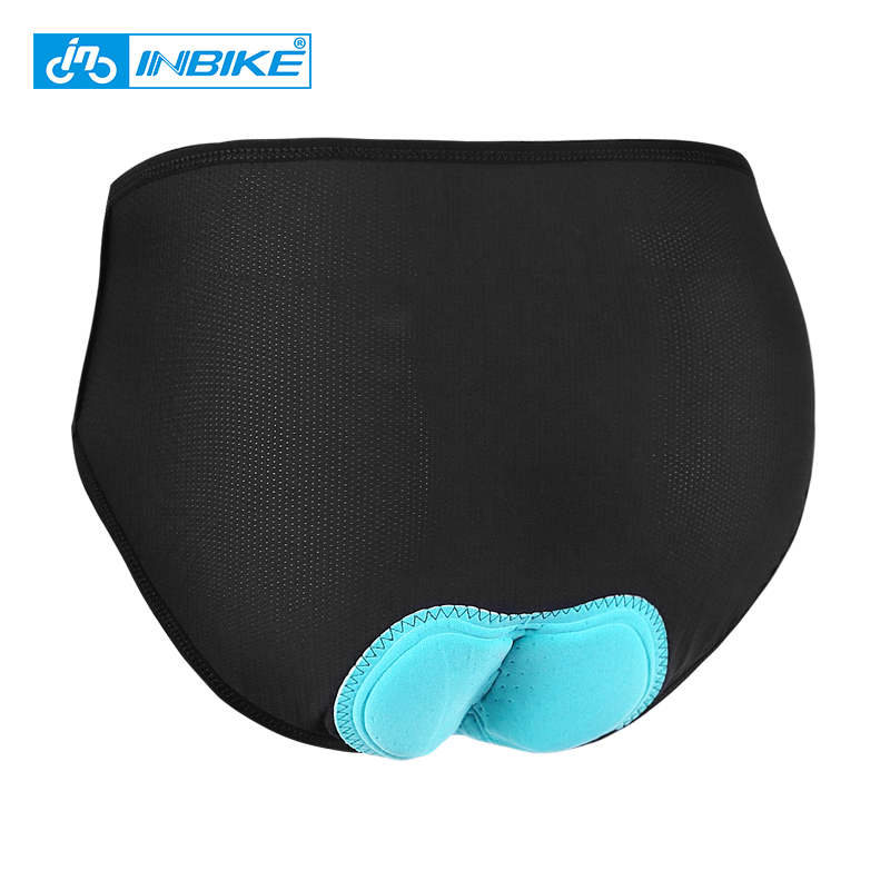 INBIKE Women's Mountain Bike Underwear Sports Underpants Cycling Triangle Briefs Breathable 3D Foam Padded MTB Bicycle Shorts