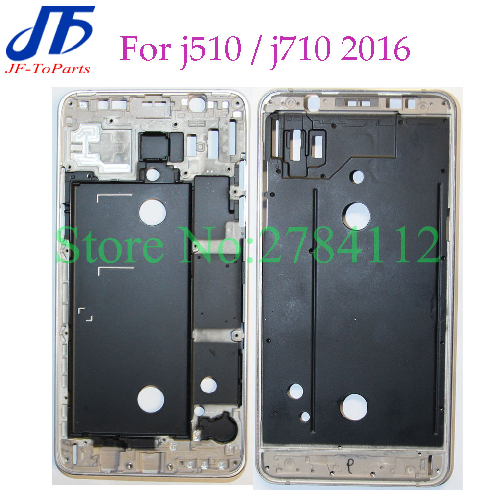 5pcs J5 J7 2016 New Front Frame Replacement For Samsung Galaxy J510 J710 Middle Plate Frame Bezel Housing Cover parts