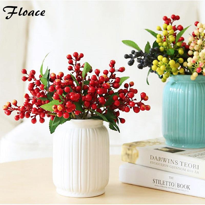 Floace Umělé květiny malé bobule rostliny obývací pokoj Evropské styl simulace květiny květinové dekorace