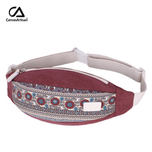 Canvasartisan Brand New Women's Waist Pack Tasker Tasker Multifunktionelle Talje Taske Retro Style Leisure Crossbody Skuldertaske