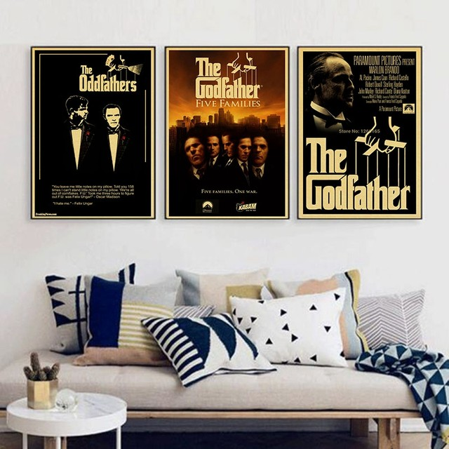 Online Shop The godfather god father vintage Poster classic old ...